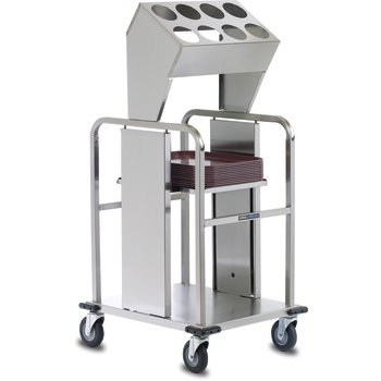 "DXIDTS2S1418 - Tray & Silverwear, 16 Cylinder Double Stack, Shelf Style 44.75""L x 28.75""D - Stainless Steel"