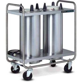 "DXIDP2O0912 - Plate Dispensers Open Style-Unheated- 2 Silo Fits 9-1/8 Plate 35.50""L x 17.75""D - Stainless Steel"