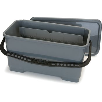 "363301923 - Rectangular Microfiber Squeegee Bucket 18"" - Gray"