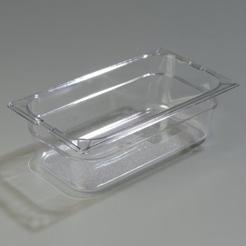 "1026107 - TopNotch® Food Pan PC 4"" DP 1/3 Size - Clear"