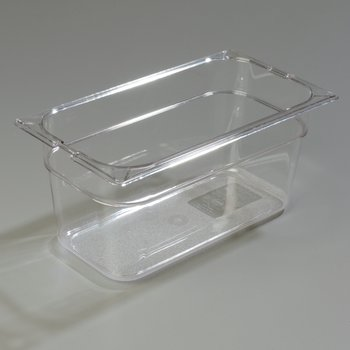 "10262-807 - TopNotch® Food Pan Banded Packs 6"" DP 1/3 Size (3/st) - Clear"