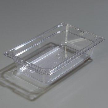 "1028007 - TopNotch® Food Pan PC 2.5"" DP 1/4 Size - Clear"