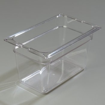 "1028207 - TopNotch® Food Pan PC 6"" DP 1/4 Size - Clear"