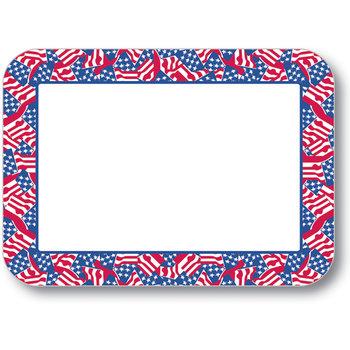 "DXHS601D001 - Stars & Stripes Design Placemat w/ Straight Edge/Round Corner 11"" x 15"""