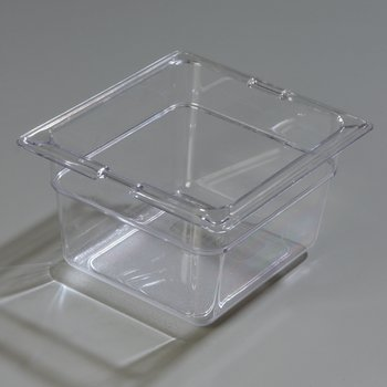 "1030107 - TopNotch® Food Pan PC 4"" DP 1/6 Size - Clear"