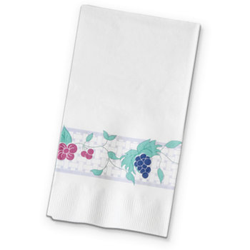 "DX6016202836 - Garden Trellis Pattern Recycled Dinner Napkin 15"" x 17"" (1000/cs)"