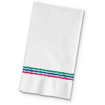 "DX6323202836 - Watercolors Pattern Recycled Dinner Napkins 15"" x 17"""