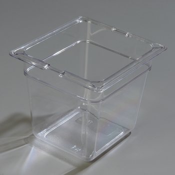 "1030207 - TopNotch® Food Pan PC 6"" DP 1/6 Size - Clear"