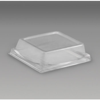DXL5104PDCLR - Dome Lid for Square Sandwich/Dessert Container - Clear