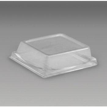 DXL5104PDCLR - Dome Lid for Square Sandwich/Dessert Container - Clear