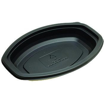 DXMW916PBLK - Microwaveable Oval Casserole Container 16oz. - Black