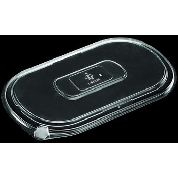 DXL800PCLR - Flat Lid for Microwaveable Medium Entrees - Clear