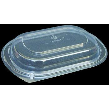 DXL4000PDCLR - Dome Lid for Microwaveable Small Entrée Platters - Clear