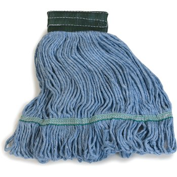 369448B14 - Flo-Pac® Medium Looped-End Mop With Green Band - Blue