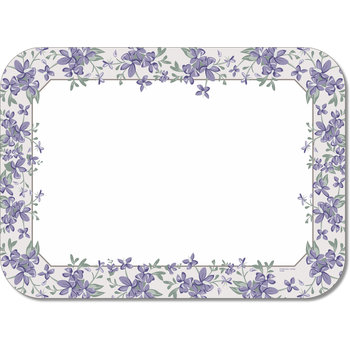 "DX5329M - Orchid Borders Traycover Size: M w/ Straight Edge/Round Corner 13-5/8"" x 18-3/4"" (1000/cs)"