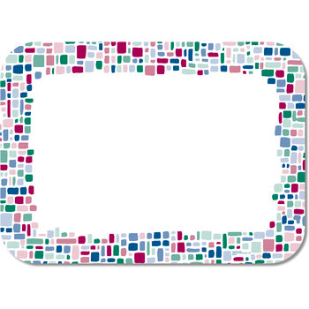 "DX5907M - Mosaic Traycover Size: M w/ Straight Edge/Round Corner 13-5/8"" x 18-3/4"" (1000/cs)"