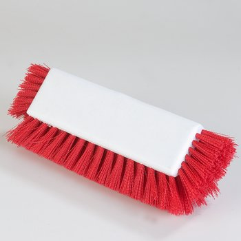 "4042205 - Dual Surface Polypropylene Floor Scrub With Side Bristles 12"" - Red"