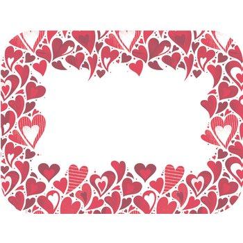 "DXHS002M001 - Valentine's Day Design Traycover Size: M w/ Straight Edge/Round Corner 13-5/8"" x 18-3/4"" (100/pk)"