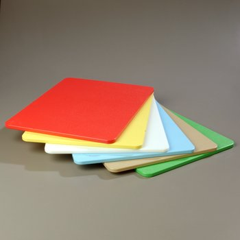 """1088300 - Spectrum® Color Cutting Board Pack 15"""", 20"""", 1/2"""" (6/pk) - Assorted"""