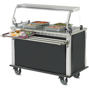 "DXHSIIHH - Hold-N-Serv™ MealtimeXpress Hot  Delivery Cart 52.40"" X 28.74"" - Stainless Steel"