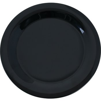"3300203 - Sierrus™ Melamine Narrow Rim Dinner Plate 10.5"" - Black"