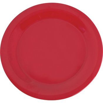 "3300205 - Sierrus™ Melamine Narrow Rim Dinner Plate 10.5"" - Red"