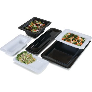 """4446003 - Designer Displayware™ Third Size Food Pan 1"""" - Black"""