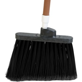 "3686703 - Duo-Sweep® Medium Duty Angle Broom w/12"" Flare (Head Only) 12"" - Black"