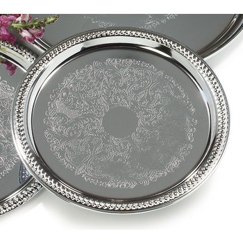 608907 - Celebration™ Round Gadroon Tray 14""