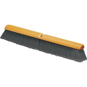 "4501323 - Flagged Bristle Hardwood Push Broom Head (Handle Sold Separately) 18"" - Gray"