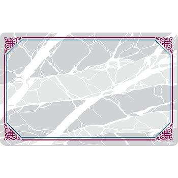 "DX5322VHW - Marbled Elegance II Traycover Size: V w/ Straight Edge/Round Corner 11-3/8"" x 19-1/2"" (1000/cs)"