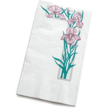 "DX6081202733 - Iris Garden Pattern Dinner Napkins 15"" x 17"" (3000/cs)"