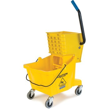 3690804 - Mop Bucket with Side Press Wringer 26 Quart - Yellow