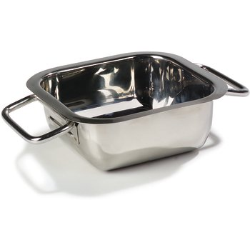 "609086 - Square Display Dish 14-3/16"" - Stainless Steel"