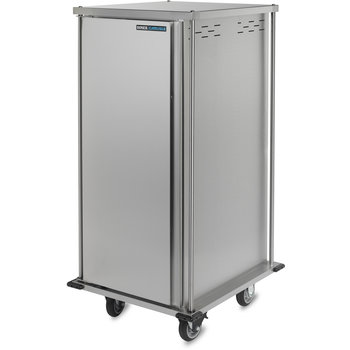 "DXTQ2T1D20 - 20 Tray Cart, Single Door, Two Trays per Slide 31.64"" x 36.21"" x 66.30"" - Stainless Steel"