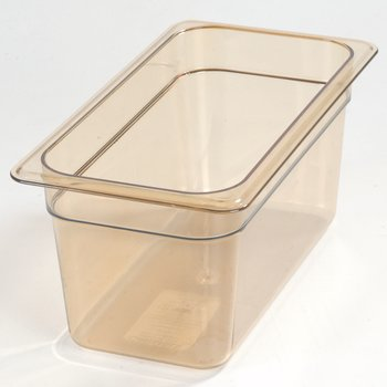 "3086213 - StorPlus™ Food Pan HH 6"" DP 1/3 Size - Amber"