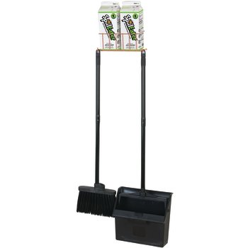 4630300 - SpillEater® Wall Mount Station Kit (includes Rack, 2 Cartons 46300, Dust Pan/Broom) (1ea) - Natural
