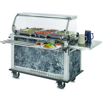 "DXMTXHR - MealtimeXpress Hot/Refrigerator  Delivery Cart 8 pans each compartment 52.40"" X 28.74"" - Stainless Steel"