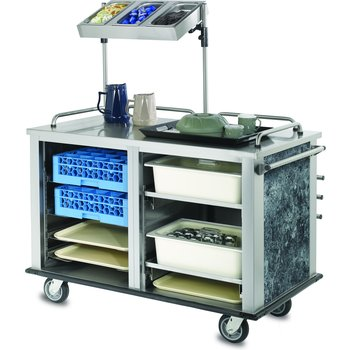 "DXMTXSCN1 - Mealtime Xpress Support Cart 52.35"" L x 37.81"" H x 29.19"" W - Stainless Steel"