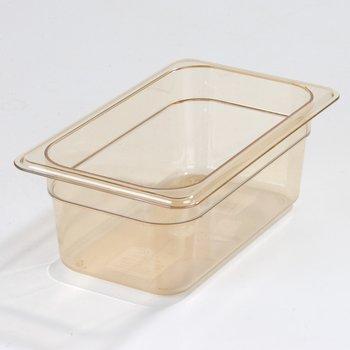 "3088113 - StorPlus™ Food Pan HH 4"" DP 1/4 Size - Amber"
