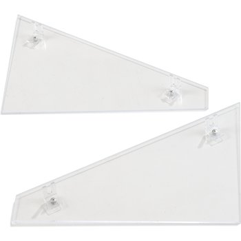 905107 - Single End Panel (encloses side area on Single Sneeze Guard) - Clear