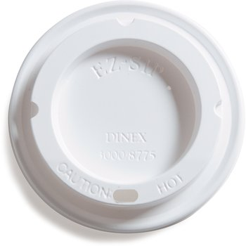 DX30008775 - Turnbury® EZ Sip Lid- Fits DX 3000 8 oz Mug, DX3200 5 oz Bowl (1000/cs) - White