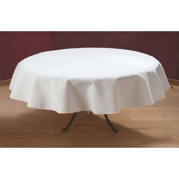 """537876RM010 - SoftWeave™ Round Tablecloth 76"""" - White"""