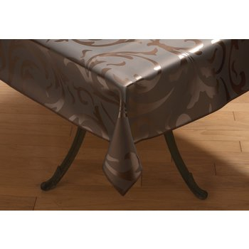 "57285252SM012 - Expressions™ Series Tablecloth Trellis 52"" x 52"" - Coppertone"