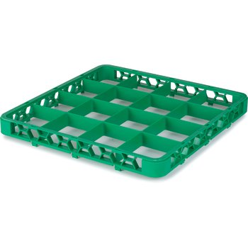 "RE16C09 - OptiClean™ 16 Compartment Divided Glass Rack Extender 1.78"" - Green"
