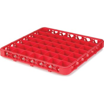 "RE49C05 - OptiClean™ 49 Compartment Divided Glass Rack Extender 1.78"" - Red"
