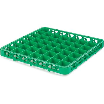 "RE49C09 - OptiClean™ 49 Compartment Divided Glass Rack Extender 1.78"" - Green"
