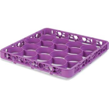 REW20SC89 - OptiClean™ NeWave™ Color-Coded Short Glass Rack Extender 20 Compartment - Lavender