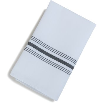 "53771822NH014 - SoftWeave™ Bistro Striped Napkin 18"" x 22"" - Black"