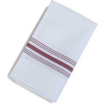 "53771822NH023 - SoftWeave™ Bistro Striped Napkin 18"" x 22"" - Maroon"